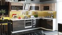 Кухня модульная «Бьюти» (Коричневый)